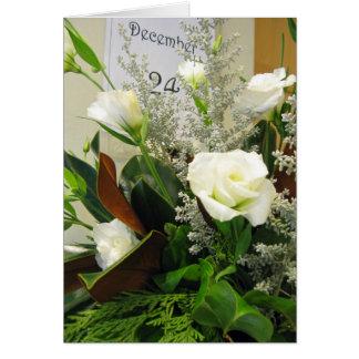 December Rose Bouquet Card