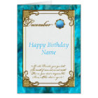 December Turquoise Birthstone Birthday Card