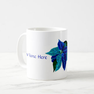December: Turquoise & Lapis Poinsettia Pers. Mug