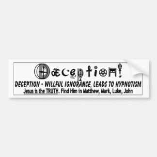 DECEPTION 2 CAR BUMPER STICKER