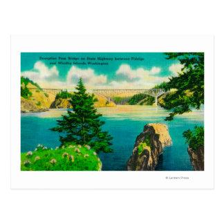 Deception Pass Bridge, Fidalgo and Whidby Island Postcard