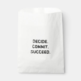 Decide. Commit. Succeed. Motivational Quote Favour Bags