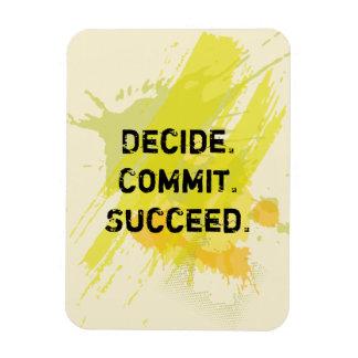 Decide. Commit. Succeed. Motivational Quote Rectangular Photo Magnet