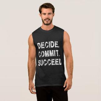 Decide Commit Success Gym Motivation tanks