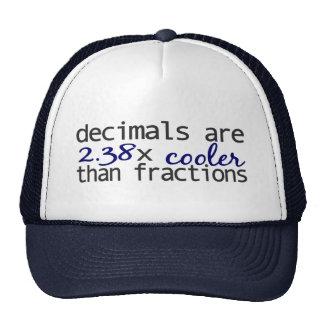 Decimals are cooler than Fractions Cap