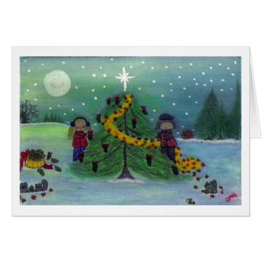 """""""Dec'ing the Tree - Nature's Way!"""" Card"""