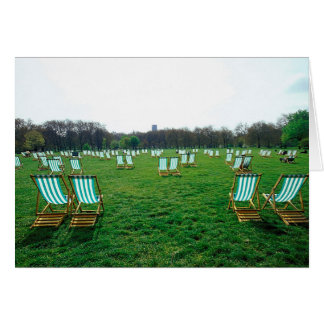 Deck Chairs Spread Out In Green Park, London Card