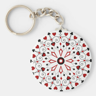 Deck of cards Card Suits Key Ring