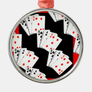 DECK OF CARDS METAL ORNAMENT