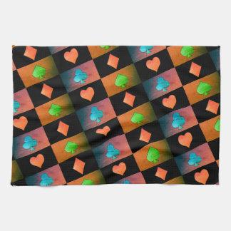 deck of cards symbols pattern for kitchen towel
