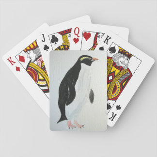 Deck of cards with penguin art.