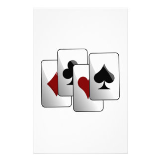 Deck of Playing Cards Customized Stationery