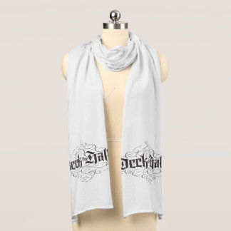 Deck the Halls Calligraphy Christmas Lettering Scarf