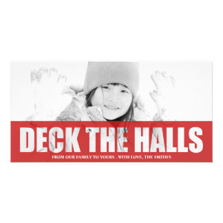 DECK THE HALLS CUT OUT PHOTO CARD
