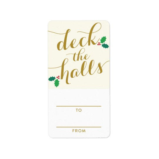 DECK THE HALLS | HOLIDAY GIFT TAGS ADDRESS LABEL