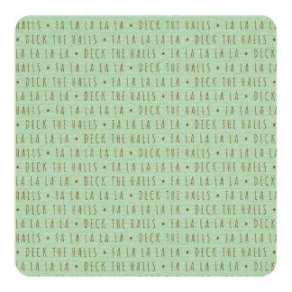 Deck the Halls Holiday Pattern 13 Cm X 13 Cm Square Invitation Card