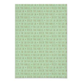 Deck the Halls Holiday Pattern 9 Cm X 13 Cm Invitation Card