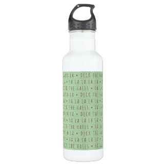 Deck the Halls Holiday Pattern 24oz Water Bottle