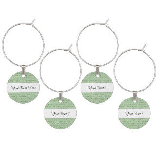 Deck the Halls Holiday Pattern Wine Glass Charm