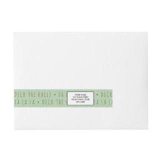 Deck the Halls Holiday Pattern Wraparound Address Label