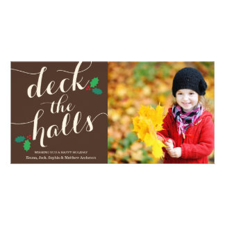 DECK THE HALLS   HOLIDAY PHOTO CARD