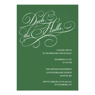 DECK THE HALLS IN GREEN| HOLIDAY PARTY INVITE