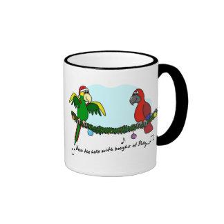 Deck the Halls Parrot Mug