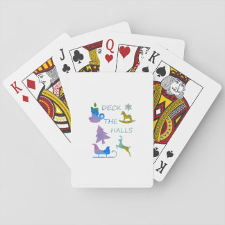 Deck the halls playing cards
