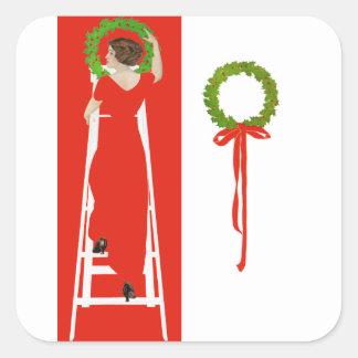 Deck the Halls Square Sticker