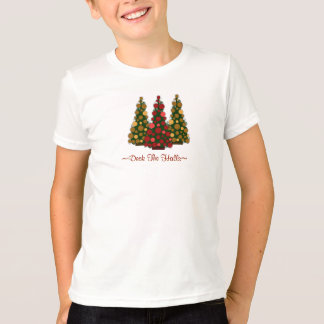 Deck the Halls Top For Girls Tshirts