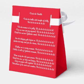 Deck the Halls Wedding Favour Boxes