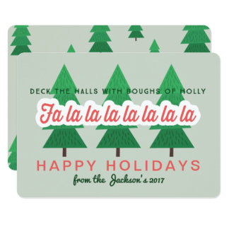 DECK THE HALLS WITH BOUGHS OF HOLLY CARD