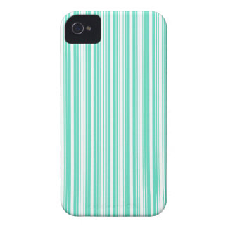 Deckchair Stripes in Tiffany Aqua Blue iPhone 4 Covers