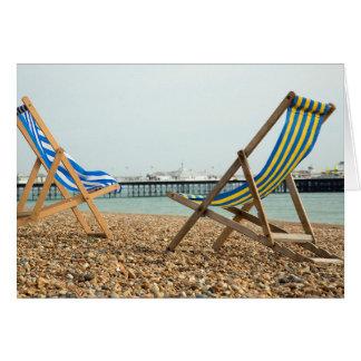 Deckchairs and shingle card