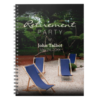 Deckchairs Personalized Retirement Guest Book