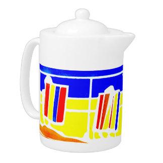 Deckchairs Promenade Seaside Tea Pot