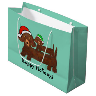 Decked out Dachshunds Gift Bags