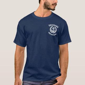 Deckhand custom name boat crew T-Shirt