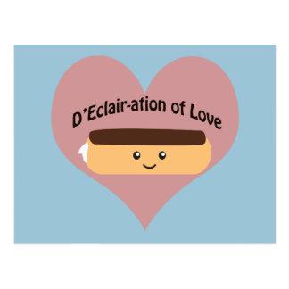 D'eclair-ation Of Love Postcard