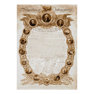 Declaration of Independence 1818 Poster