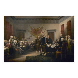 Declaration of Independence - 1819 Print