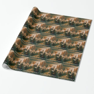 Declaration Of Independence & Ben Franklin Quote Wrapping Paper