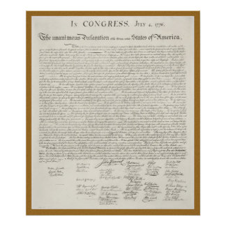 Declaration of Independence engraving poster