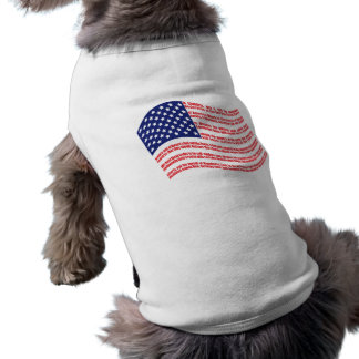 Declaration of Independence Flag for Pets Sleeveless Dog Shirt