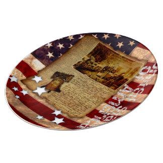 Declaration of Independence Porcelain Plate