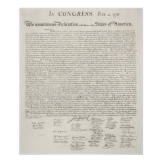 Declaration of Independence Poster Two