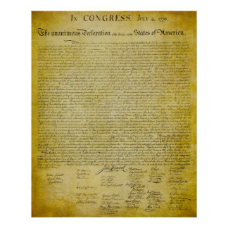 Declaration of Independence Print