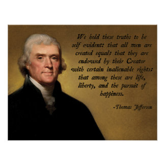 Declaration of Independence Quote Poster
