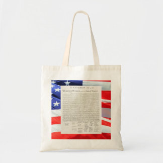 Declaration of Independence Text American Flag