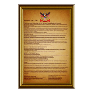 "Declaration of Independence V-2-Style-2 40""X60"" Poster"